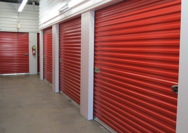 Indoor, climate controlled self storage units at Red Rock Self Storage in Midwest City.