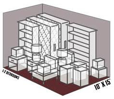 10' x 15' self storage unit