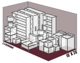 10' x 20' self storage unit