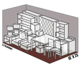 10' x 25' self storage unit
