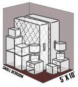 5' x 10' self storage unit