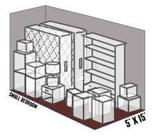 5' x 15' self storage unit