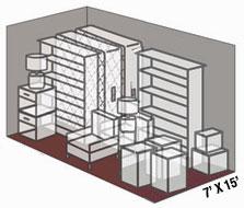 7' x 15' self storage unit